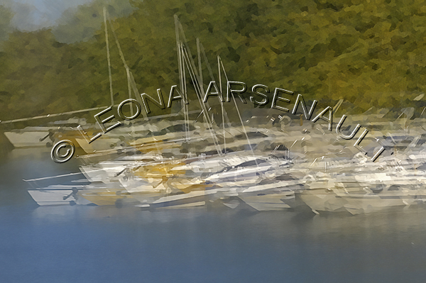 IMPRESSIONISTIC;LENS CREATION;WATER;SAIL BOATS;BOATS;ABSTRACT;HORIZONTAL