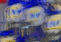 IMPRESSIONISTIC;LENS_CREATION;DIGITAL_ART;ABSTRACT;BOTTLES;JARS;GLASS;;HORIZONTA