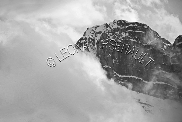 CANADA;ALBERTA;BANFF NATIONAL PARK;CANADIAN ROCKIES;ROCKY MOUNTAINS;CANMORE;SPRING;LANDSCAPE;SCENIC;CLOUDS;BLACK AND WHITE;HORIZONTAL