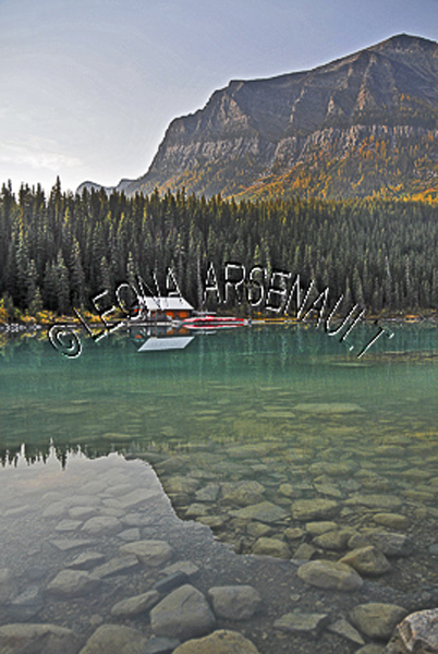 CANADA;ALBERTA;BANFF NATIONAL PARK;ROCKY MOUNTAIN;CANADIAN ROCKIES;LAKE LOUISE;ROCKS;WATER;REFLECTIONS;LAKES;FALL;WATERSCAPE;LANDSCAPE;SCENIC;VERTICAL