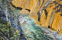 CANADA;ALBERTA;BANFF_NATIONAL_PARK;JOHNSTON_CANYON;ROCKS;WATER;FLOW;FLUID;STREAM