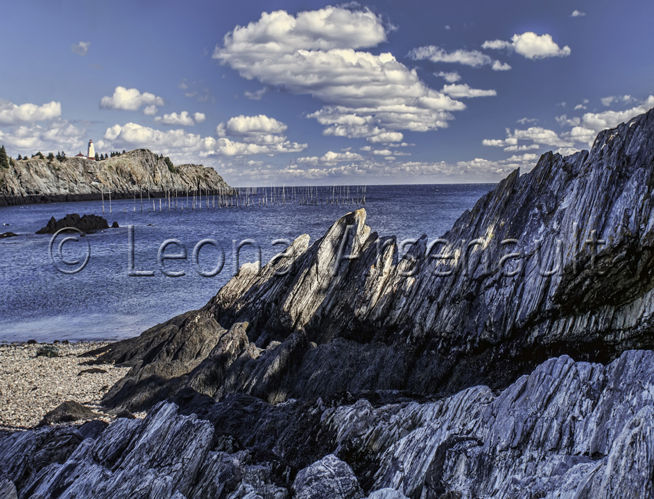 CANADA;NEW BRUNSWICK;GRAND MANAN;WATER;BEACH;HORIZONTAL;LIGHTHOUSE;CLIFF;ROCKS;