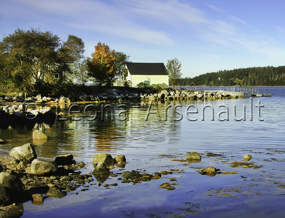 CANADA;NOVA SCOTIA;ST. MARGARETS BAY;WATER;ROCKS;SHED;HORIZONTAL;NAUTICAL;WATERSCAPE;