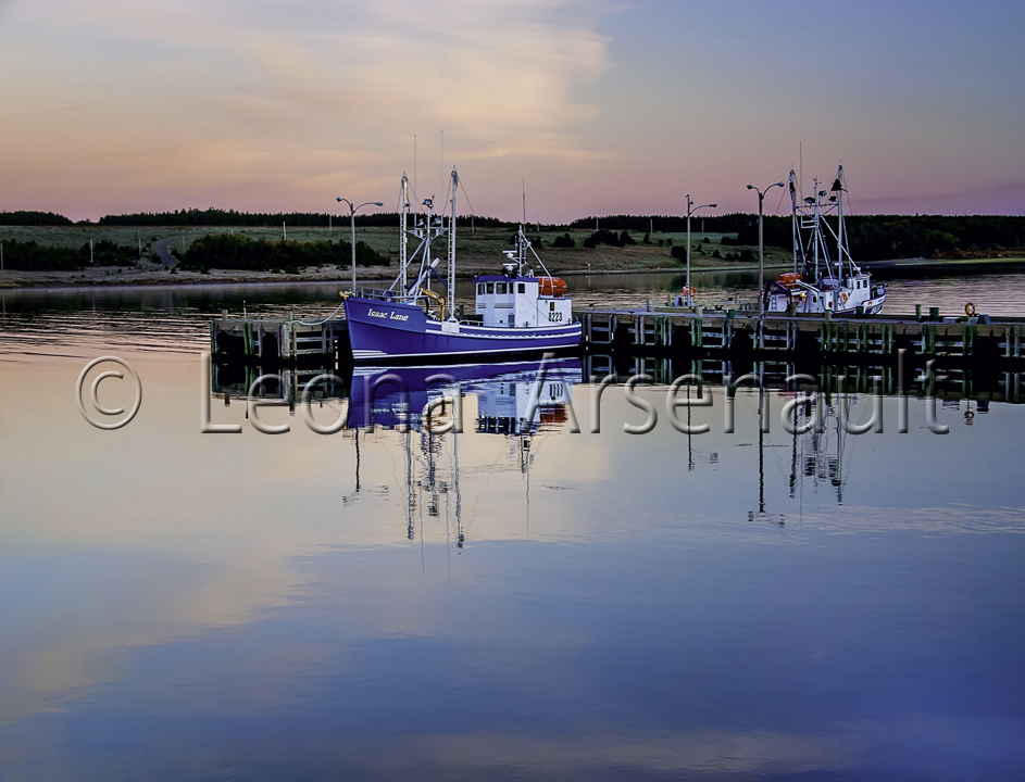 CANADA;NOVA SCOTIA;CAPE BRETON ISLAND;BOATS;WATER;WHARF;SCENIC;WATERSCAPE;HORIZONTAL;NAUTICAL;