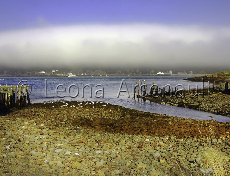 CANADA;NOVA SCOTIA;LONG ISLAND;FOG;WATER;WATERSCAPE;HORIZONTAL;