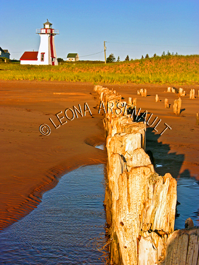 CANADA;PRINCE EDWARD ISLAND;QUEEN'S COUNTY;NEW LONDON;NEW LONDON REAR RANGE LIGHTHOUSE;LIGHTHOUSES;FALL;NAUTICAL;LANDSCAPE;WATERSCAPE;VERTICAL