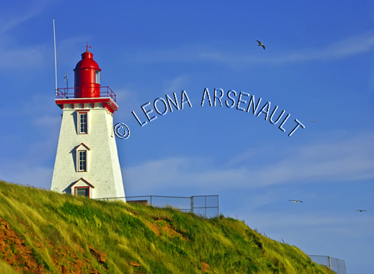 CANADA;PRINCE EDWARD ISLAND;KING'S COUNTY;SOURIS;CLIFFS;LIGHTHOUSES;NAUTICAL;SUMMER;LANDSCAPE;SCENIC;HORIZONTAL