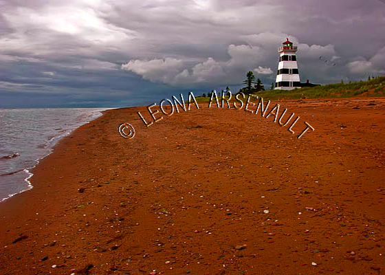 CANADA;PRINCE EDWARD ISLAND;PRINCE COUNTY;WEST POINT;LIGHTHOUSE;RED SOIL;NAUTICAL;SUMMER;BEACH;LANDSCAPE;SCENIC;HORIZONTAL