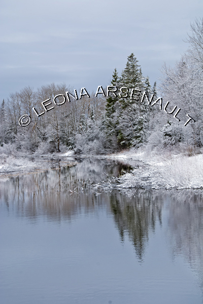 CANADA;PRINCE EDWARD ISLAND;PRINCE COUNTY;WELLINGTON;WATER;TREES;SNOW;REFLECTION;SCENIC;WINTER;