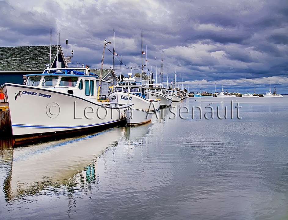 CANADA;PRICE EDWARD ISLAND;QUEEN'S COUNTY;NORTH RUSTICO;WHARF:BOATS;WATER;NAUTICAL;SHEDS;WATERSCAPE;HORIZONTAL;