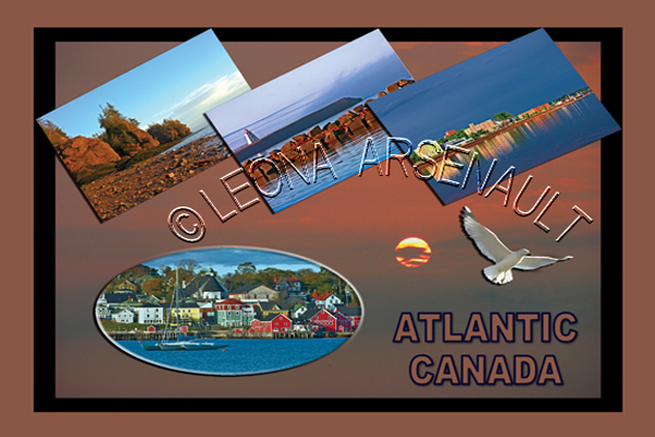 CANADA;NEW BRUNSWICK POSTCARDS;PRINCE EDWARD ISLAND POSTCARDS;NOVA SCOTIA POSTCARDS;HOPEWELL ROCK PROVINCIAL PARK NB;CHARLOTTETOWN PEI;CAP-EGMONT PEI;LUNENBURG NS;LIGHTHOUSE;POSTCARDS;