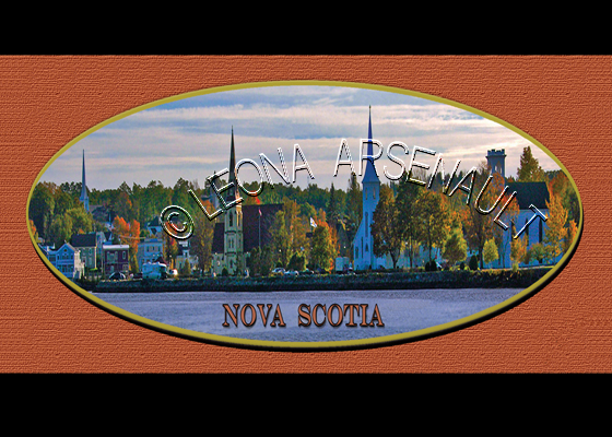 CANADA;NOVA SCOTIA;NOVA SCOTIA POSTCARDS;NS POSTCARDS;MAHONE BAY;THREE CHURCHES;WATER;POSTCARDS;