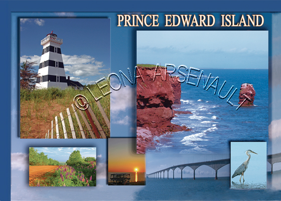 CANADA;PRINCE EDWARD ISLAND;PRINCE EDWARD ISLAND POSTCARDS;PEI POSTCARDS;WEST POINT LIGHTHOUSE;RED CLIFFS;CLIFFS;RED CLAY ROAD;LANE;LOBSTER TRAPS;LUPINS;SUNSET;CONFEDERATION BRIDGE;BRIDGE;BLUE HERON;BIRD;POSTCARDS;