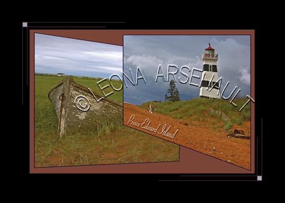 CANADA;PRINCE EDWARD ISLAND;PRINCE COUNTY;WEST POINT LIGHTHOUSE;LIGHTHOUSE;BOAT;DORY;POSTCARD;PRINCE EDWARD ISLAND POSTCARD;PEI POSTCARD;