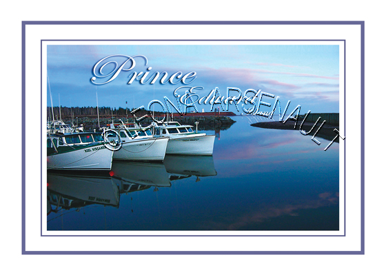 CANADA;PRINCE EDWARD ISLAND;PRINCE EDWARD ISLAND POSTCARDS;PEI POSTCARDS;PRINCE COUNTY;CAP-EGMONT;BOATS;FISHING;WATER;PIER;WHARF;SUNSET;HARBOUR; POSTCARDS;