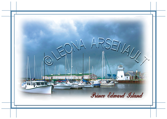 CANADA;PRINCE EDWARD ISLAND;PRINCE EDWARD ISLAND POSTCARDS;PEI POSTCARDS;PRINCE COUNTY;SUMMERSIDE;BOATS;FISHING;WATER;LIGHTHOUSE;PIER;WHARF;HARBOUR;YACHT;SUNSET;HARBOUR; POSTCARDS;