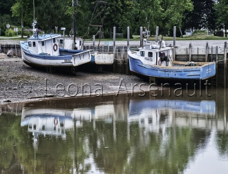 CANADA;NEW_BRUNSWICK;ST._MARTIN;BOATS;WATER;REFLECTION;WHARF;HORIZONTAL;