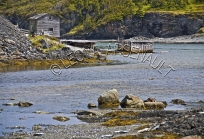 CANADA;NEWFOUNDLAND;ST_LUNAIRE_GRIQUET;WATER;SHED;SHACK;BUILDING;COASTAL;ROCKS;N